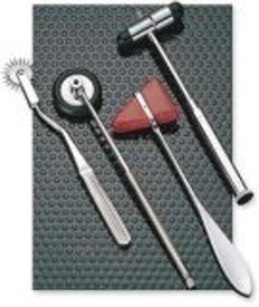 EMI 4 piece Reflex Hammer Set - Taylor, Babinski, Buck, and Wartenberg Pinwheel