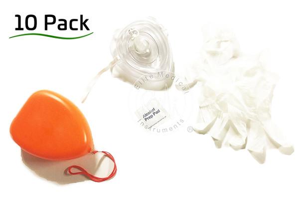 10 Pack - 10 CPR pocket resuscitators