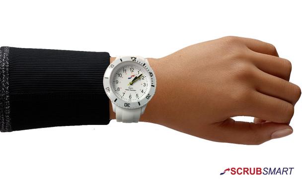 Scrub Smart Basics Watch for Nurses - White SW-W-100