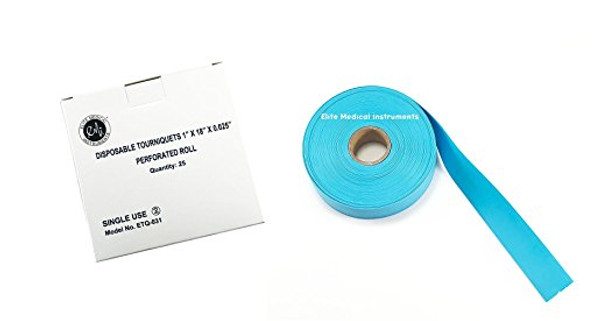 "EMI Disposable Tourniquets 1"" x 18""x 0.025"" Perforated Roll Quantity - 25 per box"