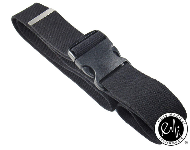 "EMI 60"" Black Gait Transfer Belt with Plastic Buckle 100% Cotton"