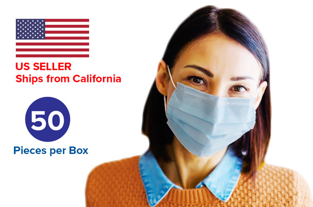 Disposable Face Mask - 50 pack per box