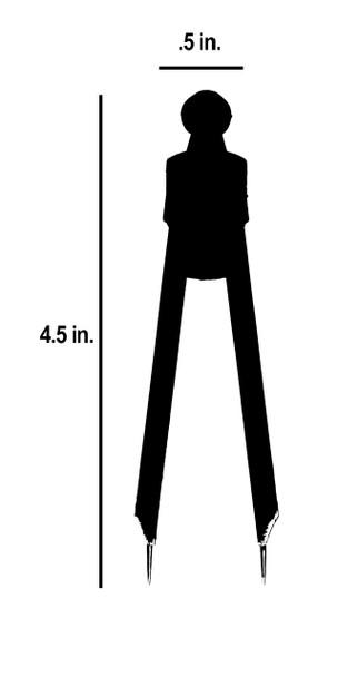 4.5 in length by .5 in width