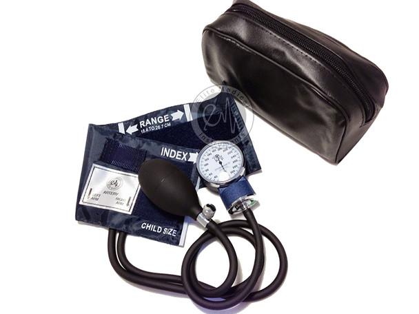 EMI Manual Aneroid Sphygmomanometer Blood Pressure Cuff Monitor with Child Pediatric Cuff EBC-215
