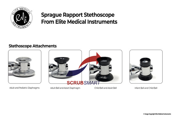 Sprague Rappaport Stethoscope attachment configurations