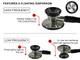 EMI Platinum Series Deluxe Black Cardiology Stethoscope with pressure sensitive Diaphragm ESC-333