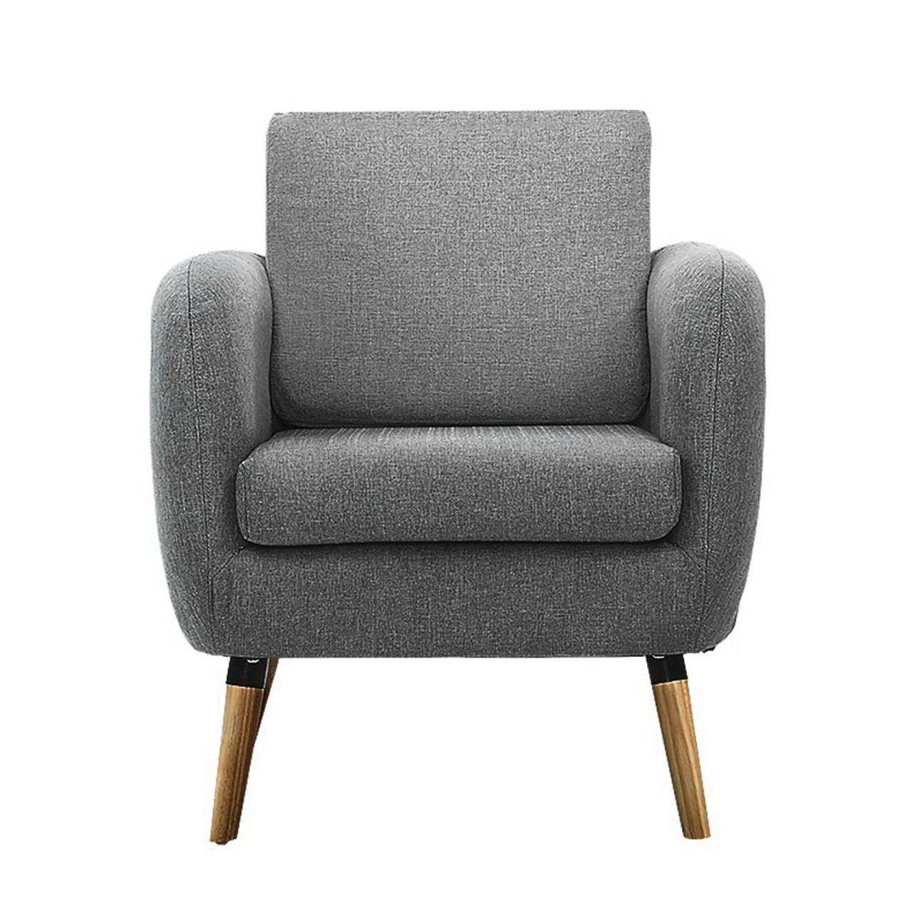 Buy Artiss Lounge Chair Armchair With Ottoman Tub Accent Sofa Linen Fabric Grey 242 6 Free Shipping