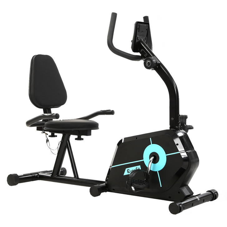 Magnetic Recumbent Exercise Bike Fitness Cycle Trainer Home Gym Equipment