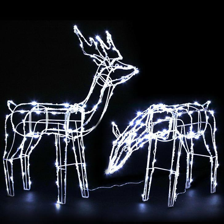 Jingle Jollys Christmas Motif Lights LED Rope Reindeer Waterproof Solar Powered