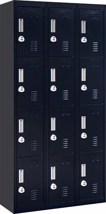 12 Door Office Gym Locker 3 Digit Combination Lock Black