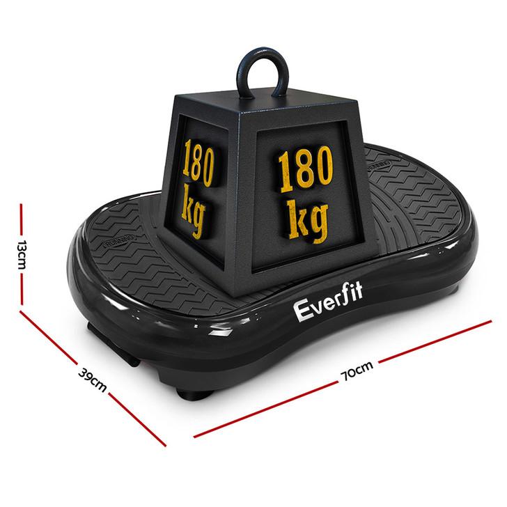 Slim Vibration Plate 1000W Exercise Fitness Massage Body Shape Power Plate Black