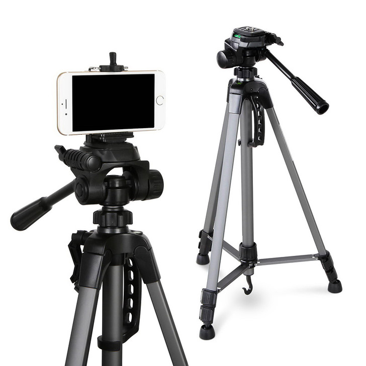 1.45mTripod Aluminium for Mobile Phones and Professional Camera with Carry Bag