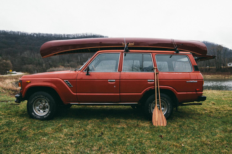 Merrimack Tennessean Canoe on Land Cruiser