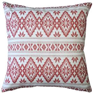Malmo Red Diamond Throw Pillow 17x17