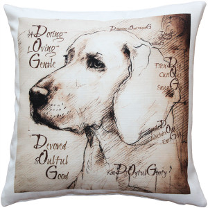 What Makes a Dog Throw Pillow 17x17