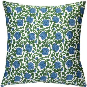 May Garden Floral Throw Pillow 19x19