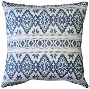 Malmo Blue Diamond Throw Pillow 17x17
