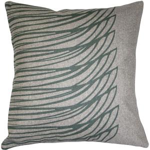 Kukamuka Meri Green Throw Pillow 19x19