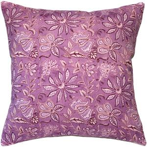 Mauve Flowers Throw Pillow 19x19