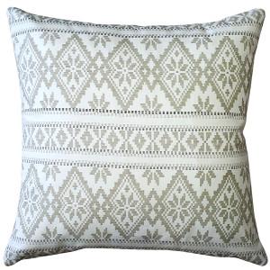 Malmo Cream Diamond Throw Pillow 17x17