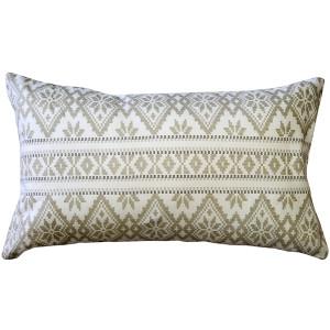 Malmo Cream Diamond Throw Pillow 12x19