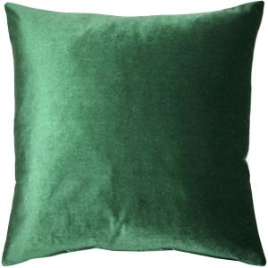 Corona Hunter Green Velvet Pillow 16x16