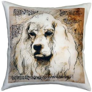 American Cocker Spaniel 17x17 Dog Pillow