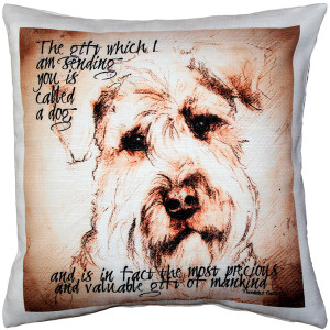 Airdale Terrier Gift to Mankind Pillow