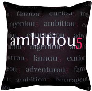 Ambitiou5 Throw Pillow 17x17