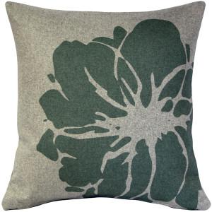 Kukamuka Lily Green Throw Pillow 19x19