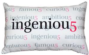 Ingeniou5 Throw Pillow 12x20