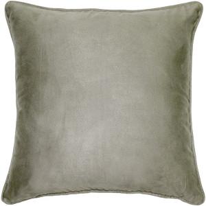 Sedona Microsuede Sage Gray Throw Pillow 20x20