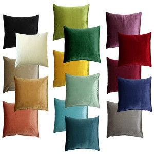 Corona Velvet Throw Pillows 19x19