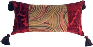 Multicolor Swirl Motif Decorative Pillow
