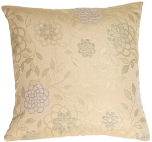 Floral on Sand Decorative Pillow