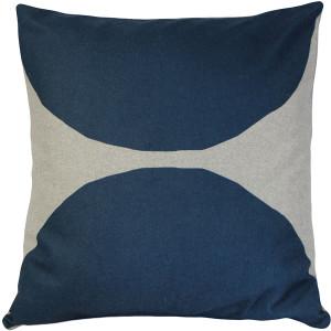 Kukamuka Kivi Blue Throw Pillow 22x22