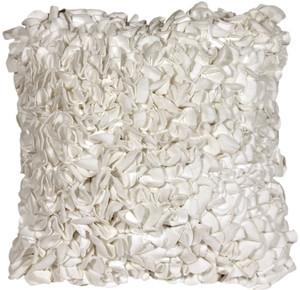 Summer Blossom White 18x18 Throw Pillow