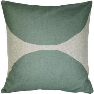 Kukamuka Kivi Green Throw Pillow 22x22