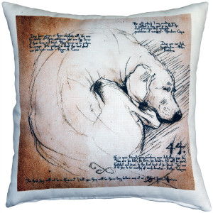 The Love of Dogs 17x17 Throw Pillow