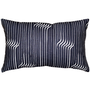 Tuscany Linen Shockwave Blue Throw Pillow 12x19