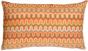 Monterey Bay Multi-Color Rectangular Toss Pillow