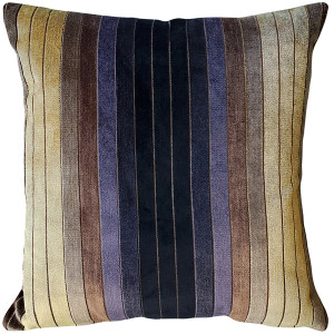 Bullion Stripes Velvet Throw Pillow 20x20