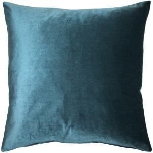 Corona Teal Velvet Pillow 19x19