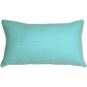 Tuscany Linen Turquoise 12x19 Throw Pillow