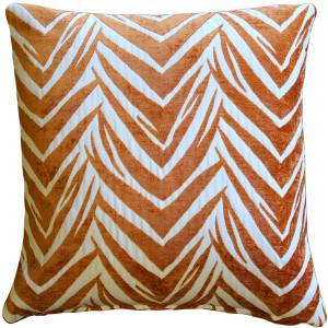 Samba Orange 20x20 Throw Pillow