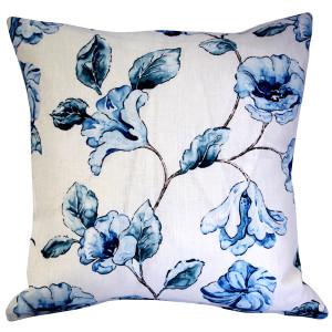 Blue Lily Linen Throw Pillow 20x20