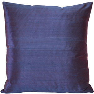 Sankara Purple Silk Throw Pillow 16x16