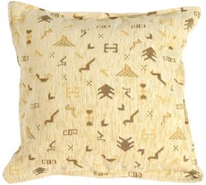 Tribal Yellow Decorative Throw Pillow