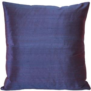 Sankara Purple Silk Throw Pillow 18x18