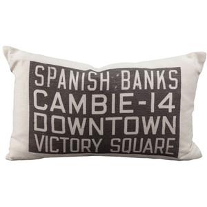 Spanish Banks Bus Scroll Throw Pillow